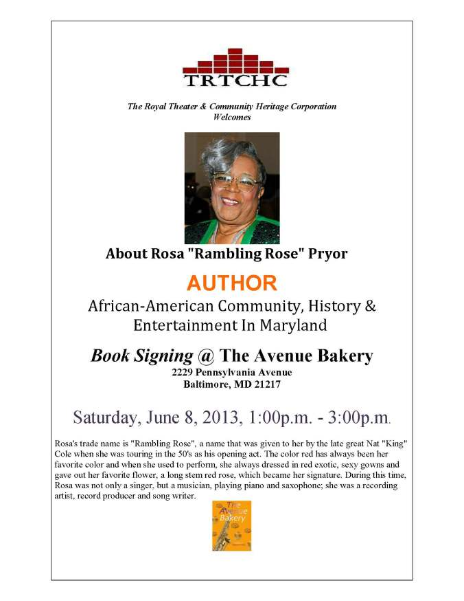 Rosa Pryor Book Signing