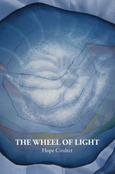 Cover for THE WHEEL OF LIGHT by Hope Coulter.  IMAGE: An abstract spiral turns in on itself, calling to mind both a conch shell and the turn of light in spacetime.