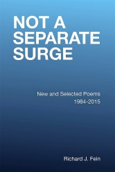 Text-Only Book Cover. Text: NOT A SEPARATE SURGE, New and Selected Poems 1984-2015, Richard J. Fein
