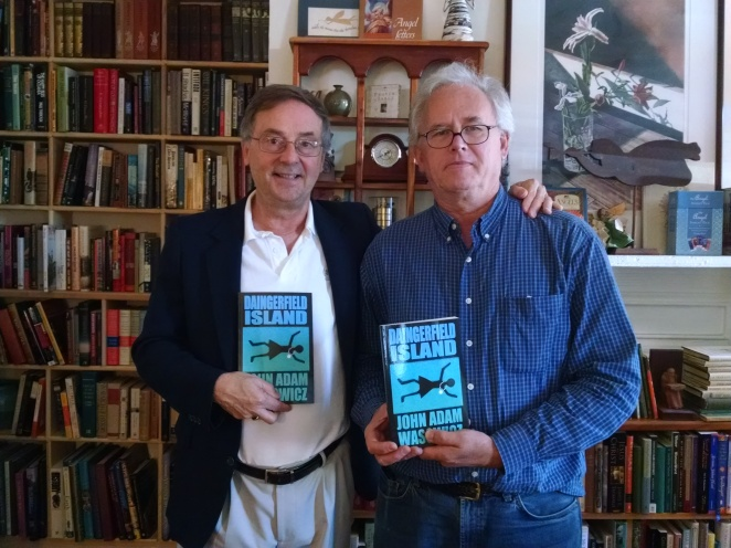 Author John Adam Wasowicz (left) with R. Allen Robinson (right). Robinson is the owner of Books and Other Found Things in Leesburg, VA, which hosted Wasowicz at a book signing on Saturday, October 21.